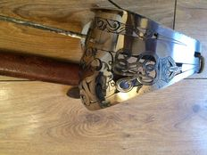 Old British officers sword with GVR on the hand gaurd, & a scabbard
