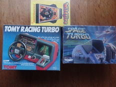 Lot of 3 boxed tabletops - SPACE TURBO - RACING TURBO - WILDFIRE PINBALL