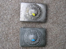 Two belt buckles of the German Wehrmacht