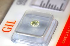 Diamond in sealed G.I.L. Certificate  - Fancy Greyish Yellow 0.51 ct