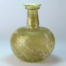 A Large Roman Glass Funnel Flask - 15,2 cm