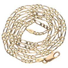 14 kt yellow gold Figaro link necklace - 51 cm