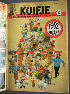 Kuifje weekblad - Complete zesde jaargang in privé-bundeling (1951)