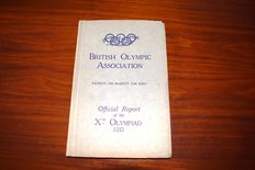 Official report of the Xth Olympiad Los Angeles 1932 edited by Captain F.A.M. Webster