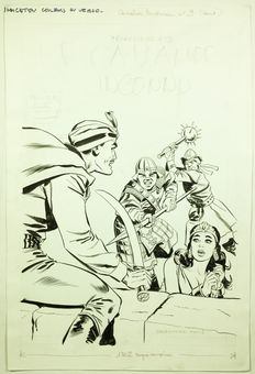 Marcello, Raphael Carlo - Original drawing for the cover -  Le Cavalier Inconnu 9 - (1969)