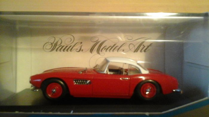 Minichamps   Scale 1/43   Lot With 5 Models: BMW 507 Convertible (Hard Top),  BMW 507 Convertible (Soft Top), BMW 507 Convertible, VW Hebmueller  Convertible ...