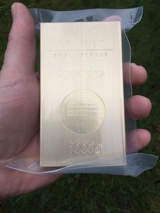 Brass ingot fine brass Castle Güldengossa edition - 1kg / 1000g alternative investment metal