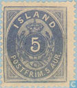 Postage Stamps - Iceland - Figure with crown in oval