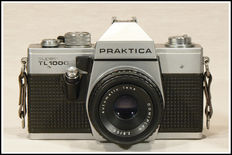 Beautiful complete Praktica with four lenses and accessories.