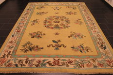Old collector's carpet Tetex of the German Persian 246 x 330cm plant-based colours carpet China Art Deco pattern handmade around 1910