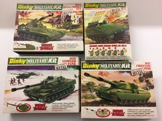 Dinky Toys - Schaal 1/43-1/50 - Kavel met 4 Dinky Military Kits: Mobile Gun No. 1034, Striker Anti Tank No. 1035, Leopard No. 1036 en Chieftain tanks No. 1037