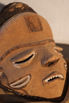 Mbuya Mask with 4 horns - PENDE - D.R. Congo