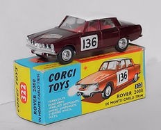 Corgi Toys - Scale 1/43 - Rover 2000 in Monte Carlo trim with trans-O-lite headlamps No.322