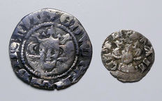 United Kingdon - Medieval Penny and Farthing Edward I 1272-1307 (2 coins) silver