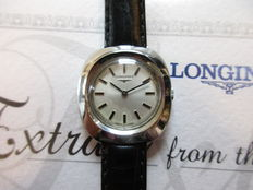 Longines Swiss - women's wristwatch from 1973 - with rare papers from 'The Archives'.