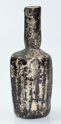 Ancient Roman Glass Ribbed Flask  - 100mm