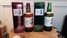 2 bottles - Yamazaki Single Malt Whisky & Hakushu Single Malt Whisky - Distiller's Reserve
