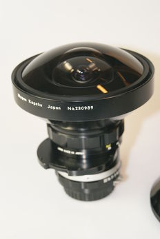 Nikkor Fish Eye Auto 1:2.8 f=8mm. Rare first version (serial number starts with 230)