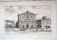 G. B. Falda - Rome - Church of St. Louis of the French - 1665