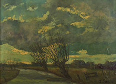 Jules Sarre (20th c) - Countryside landscape