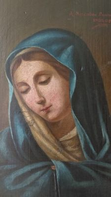 Spanish school (19th c.) - Virgen