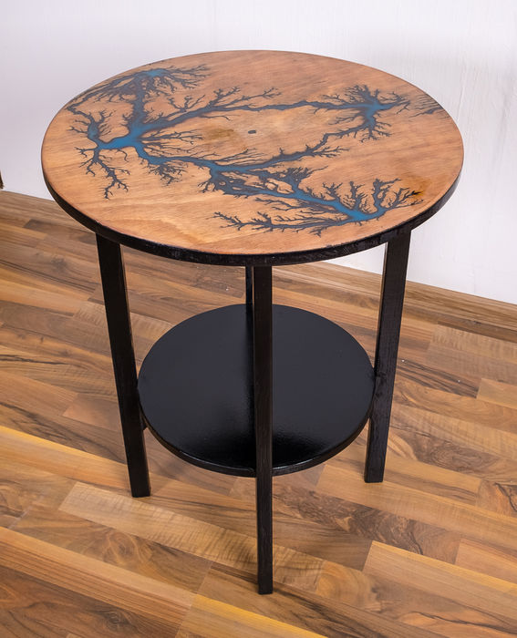 DSBelyakoff - unique table that glows in the dark, industrial loft