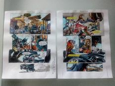 Whitmore, Glenn- original colourisations (color guide art)- Batman 1 pp 16-17 (1999).