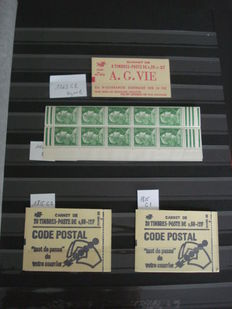 France 1955/1974 – Selection of modern booklets – Yvert no. 1010C3, 1263C2, 1815C1/C2