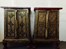 Handmade decorated Oriental cabinets – India – Second half of the 20th century