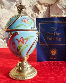 House of Fabergé - egg Collector - box at music porcelain - Collection 'Our Love'