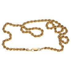 Yellow gold 18 kt twisted link necklace – length: 49 cm