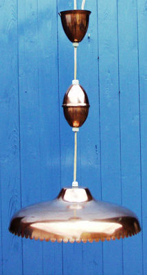 Unknown designer - copper lamp with pulley system