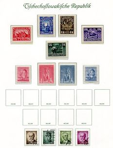 Czechoslovakia 1945/1957 - collection on 42 album leaves including mini-sheets.