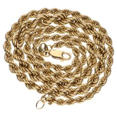 Yellow gold twisted link necklace in 14 kt - 46 cm