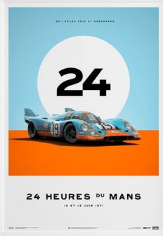 Porsche Collection - fine art print - GULF Porsche 917 24 heures du Mans 1971