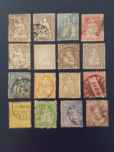 Switzerland – 1854-1862 – small collection