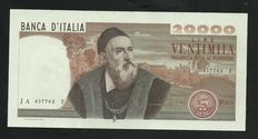 Italy - Lot of two banknotes - Lire 20000 R2 21/02/75 and Lire 1000 15/09/1959 rare