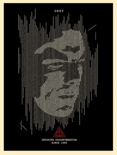 Shepard Fairey (OBEY) - Decoding Disinformation (Black)