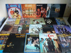 """Lot with Dutch famous Rock Band 'the CATS"""", almost their complete oeuvre is present in this great lot , 22 albums in total"""