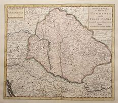Hungary, Transylvania; Tirion / Albrizzi – New map of the Kingdom of Hungary and Transylvania according to the latest observations – 1740
