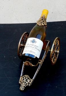 Louis XIV style gilt brass table wine decanter trolley - French - late 19th/early 20th century