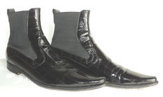 Dolce & Gabbana Eel Skin Pull On Ankle Boots