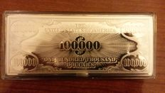 Miscellaneous - 100,000 USA dollars – silver banknote (The Washington Mint) – 4 OZ silver