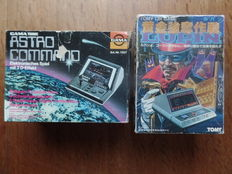 Lot of 2 boxed Tabletops - LUPIN from Tomy - ASTRO COMMAND from Gama Tronic