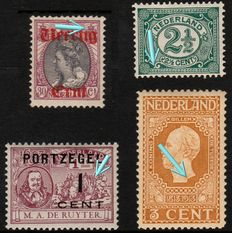 The Netherlands 1899/1919 - Lot NVPH - Plate flaws