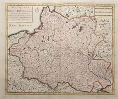 Poland – Tirion / Albrizzi – New map of the Kingdom of Poland, divided into its palatinates – 1740