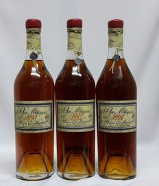 3 bottles of Armagnac - 1991 Bas-Armagnac Baron Gaston Legrand 40% abv bottled in 17/06/2011 & 1992 Bas-Armagnac Baron Gaston Legrand 40% abv bottled in 15/02/2013 & 1995Bas-Armagnac Baron Gaston Legrand 40% abv bottled in 27/10/2010