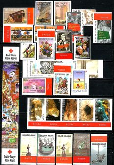Belgium 2003 - imperforate stamps and Blocks with back number between OBP Block 101 and 3198.