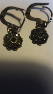diamond Tika earrings with stamps