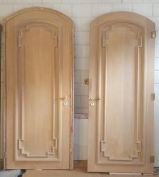 Set of chic high oak doors - The Netherlands - second half of the 20th century